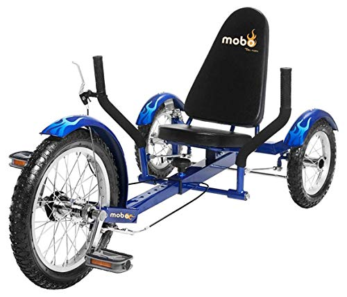 Mobo Triton Recumbent Trike. Kids 3-Wheel Bike. Youth Cruiser Tricycle (Adult Banana Seat Bicycle)