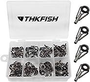 THKFISH Fishing Rod Tip Repair Kit Rod Repair Kit Small Freshwater Stainless Ceramic Repair Fishing Kits Black