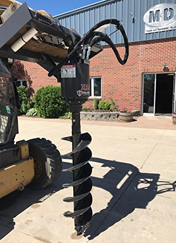 Skid Steer Auger Attachment (McMillen X1475 Auger / Post Hole Drive Unit Attachment And 12
