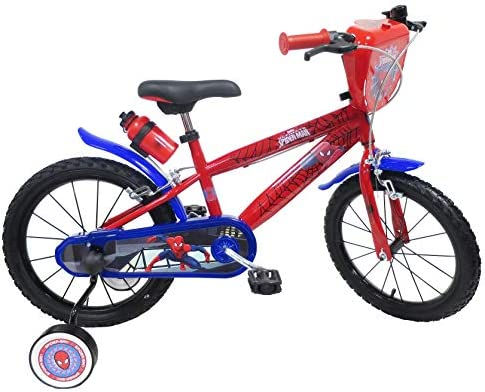 Bicicleta Niño 5/7 años Spiderman 16: Amazon.es: Deportes y aire libre