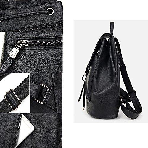 Rieker50620 - Zapatos Planos con Cordones Mujer, Color Negro, Talla 38