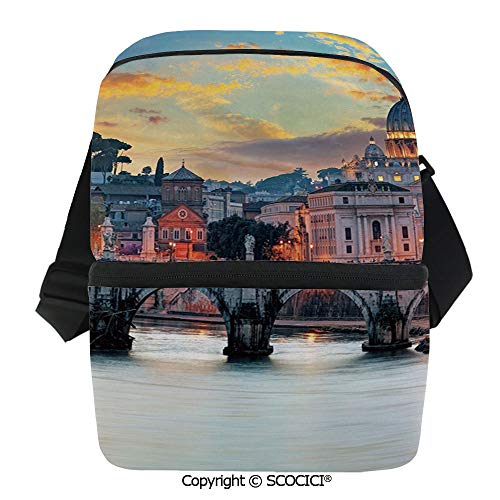 SCOCICI Thermal Insulation Bag Vatican Rome View in The Evening Famous Basilica Landmark Travel Destination Image Decorativ Lunch Bag Organizer for Women Men Girls Work School Office Outdoor