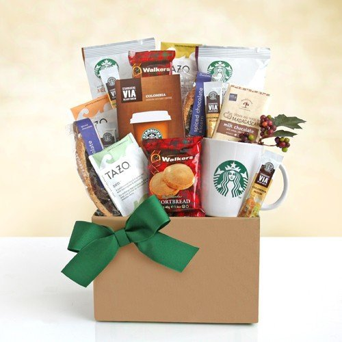 A Delicious Duo! Starbucks Coffee and Tea Gourmet Gift Basket