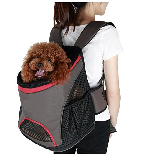 LOHUA Pet Carrier Backpack, Breathable Mesh Soft-sided Front Pouch Dog Carrier Backpack Pet Shoulder Bag Outdoor Travel by LOHUA (Image #2)