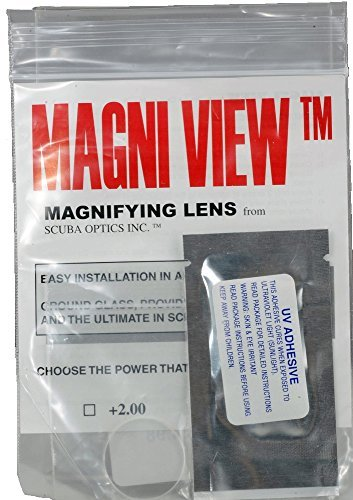 MAGNI-VIEW 3x Mask Magnifying Lens Great for Scuba Divers and Water Sports