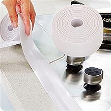 White Tub/Wall Peel & Stick Caulk Strip Kitchen Tape Bathroom Sealing Tape Waterproof Self-Adhesive Decorative Trim 126'' (3.2m*2cm)