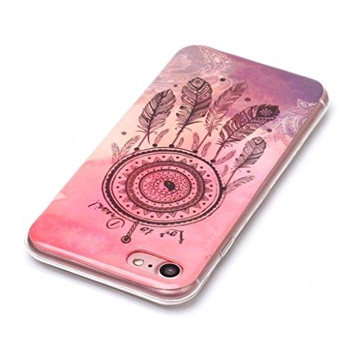iPhone 7 Cover , YIGA Tai Chi Dreamcatcher Silicone Cristallo Morbido TPU Case Custodia per Apple iPhone 7