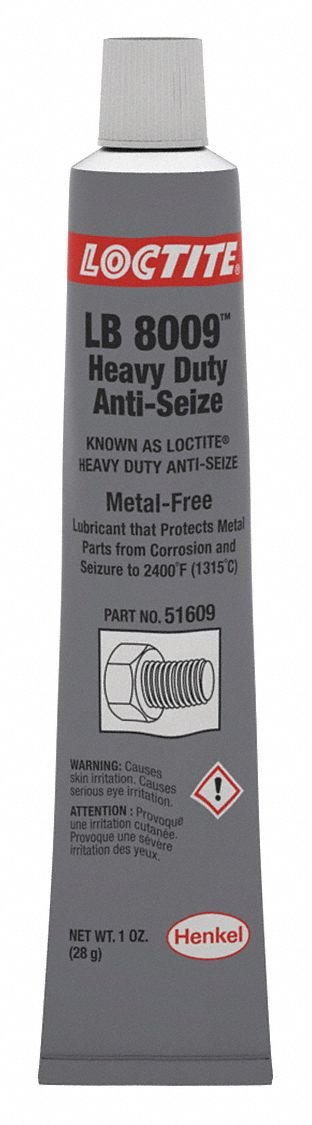 Loctite Metal-Free Anti-Seize Compound, -20°F to 2400°F, 1 oz, Black 51609-1 Each by Loctite