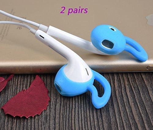 Vivi Audio Eargels Eartips Earbuds Ear Gels Tips Buds Earphone for iphone 5 5s 5c 6 6s Plus SE ipad mini 2 3 4 Air Pro (Blue ) (Mini Gel Ear)