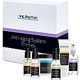 YEOUTH Anti-aging Kit Thirties - 6 pack Anti-aging skincare set - Vitamin C Facial Cleanser - Balancing Toner for Face - Vit C & E Serum - Hyaluronic Acid Serum - Eye Gel - Day Night Snail Cream
