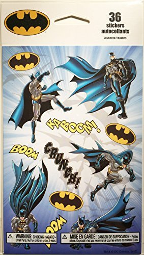 BATMAN STICKER PACK, 36 STICKERS INCLUDED -