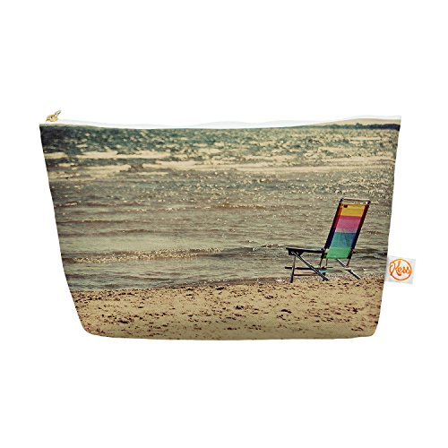 """Price comparison product image Kess InHouse Everything Bag,  Tapered Pouch,  Angie Turner """"Beach Chair"""" Sandy Beach,  8.5 x 4 Inches (AT1004AEP03)"""