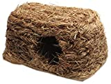 Panda Superstore Natural Outdoor Rabbit Hutch Straw Mattress Hand Made Straw Nest