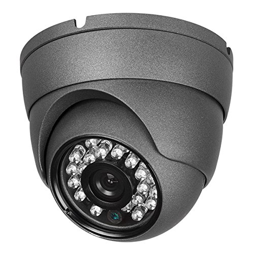 Real HD 1080P Dome HD Analog Outdoor Security Camera (Quadbrid 4-in1 HD-CVI/TVI/AHD/Analog), 2MP 1920×1080, 65ft Night Vision, Metal Housing, 3.6mm Lens Wide Viewing Angle, Black
