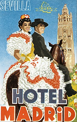 Hotel Madrid Sevilla Reproduction Luggage Decal 3
