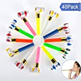 bulk party streamers - U_star 40 Pack Bulk Party Musical Blowouts,New Years Party Noisemakers, Birthday Party Favors, Halloween Blowers, Prizes and Streamers, Goody Bag Stuffers Assorted Colors