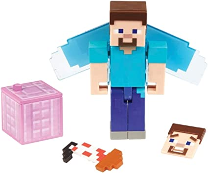 Amazon Com Minecraft Steve With Elytra Toys Games