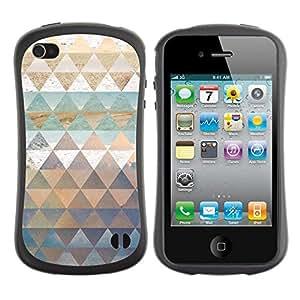 "Hypernova Slim Fit Dual Barniz Protector Caso Case Funda Para Apple iPhone 4 / iPhone 4S [Patrón Polígono trullo Naturaleza Pastel Agua""]"