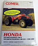 ATV/Moto-X Honda Clymer Manual Models TRX 300/Fourtrax 300 WSM M346-3