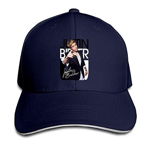 Price comparison product image AegeanSea Justin Pop Bieber Singer Fashion Sandwich Peaked Cap Navy