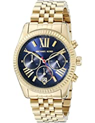 Michael Kors Womens Lexington Gold-Tone Watch MK6206