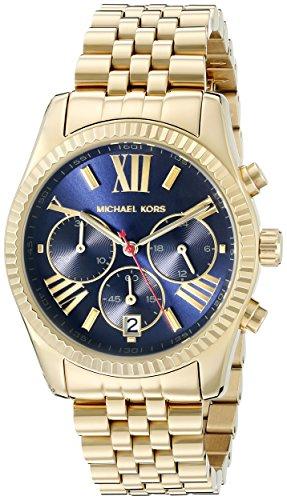 (Michael Kors Women's Lexington Gold-Tone Watch MK6206)