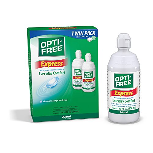 Opti-Free Express Multi-Purpose Disinfecting Solution with Lens Case, Twin Pack, 10-Ounces Each