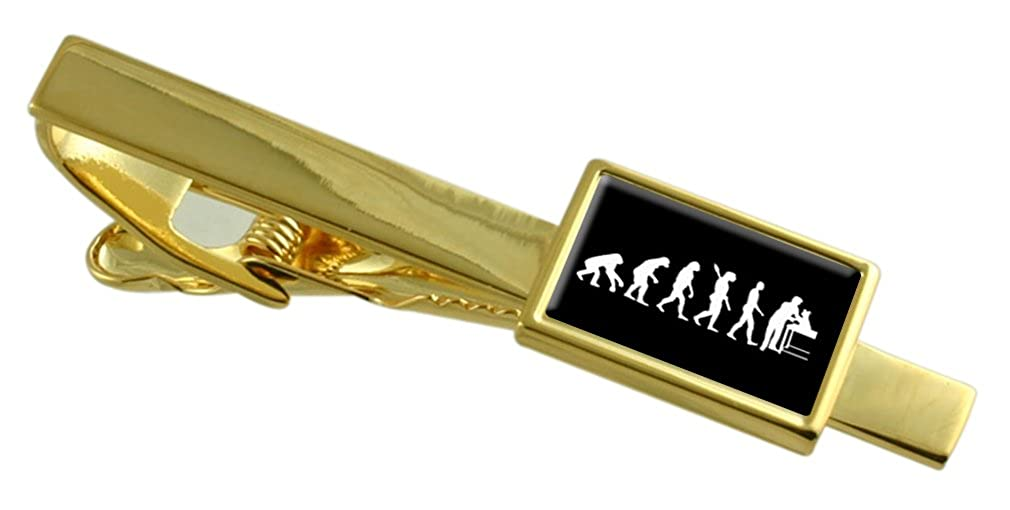 Select Gifts Evolution Ape to Man Vet Gold-Tone Tie Clip Pouch