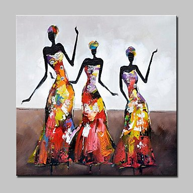 Fashion Girl Oil Paintings On Canvas Modern Wall Art Picture