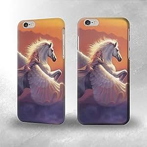 Girl and Pegasus Fatasy- Funda Carcasa para Apple iPhone 6