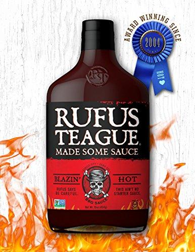 Rufus Teague- Blazin' Hot BBQ Sauce- 16oz. Extreme Heat That