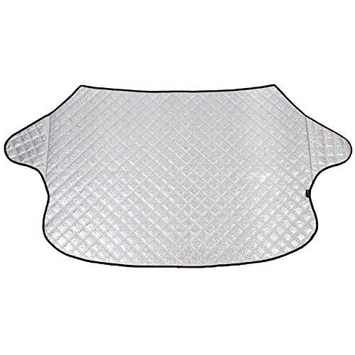 Car Windshield Snow Cover & Sun Shade Protector Thickened Hood Sliver Covers for Most Car, SUV, Truck, Van