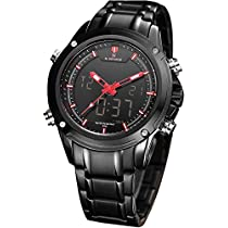 Wrath Charming Black Red Luxury Men's Watch with Free Bracel