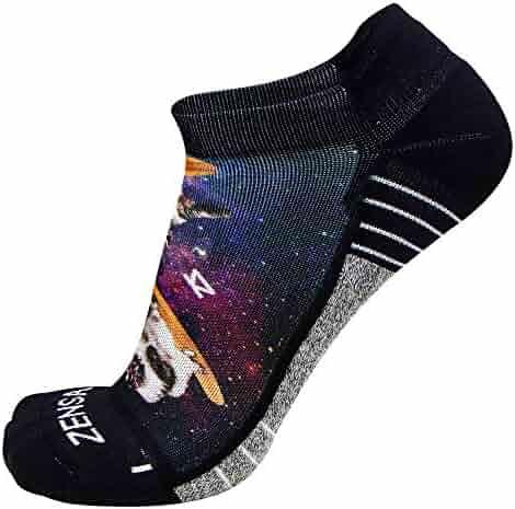88c581aaab791 Zensah Limited Edition No-Show Running Socks - Anti-Blister Comfortable  Moisture Wicking Sport