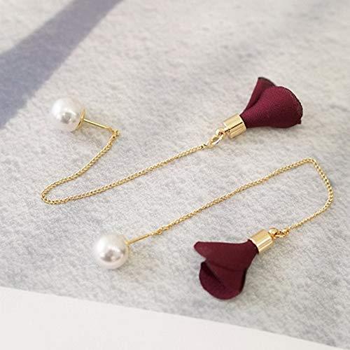 (Monowi Newly Women Gold Silver Plated Crystal Flower Drop Long Dangle Chain Earrings | Model ERRNGS - 4880 |)