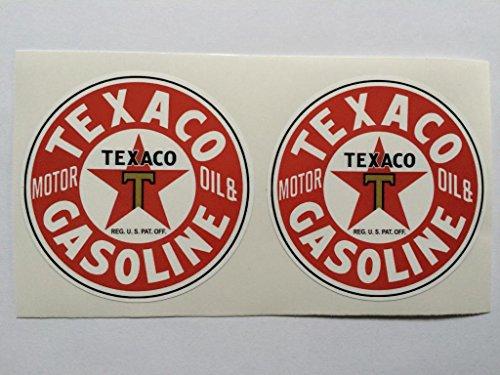 2-texaco-gasoline-motor-oil-die-cut-decals-by-sbd-decals