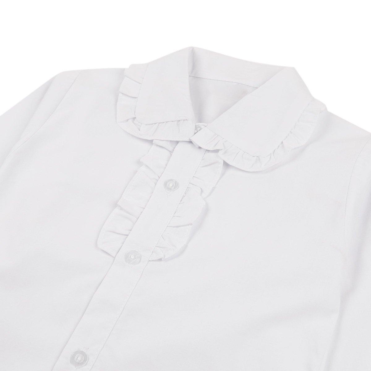 dPois Blusa Mangas Largas para Niños Niñas Camisa Blanca Oxford Top Uniforme Escolar Algodón Ropa Otoño Invierno 4-13 Años Blanco 4-5 Años: Amazon.es: Ropa y accesorios