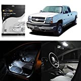 led package - Partsam 1999-2006 Chevrolet Silverado White Interior LED Package Kit W/ License Plate Light (11 Pieces)