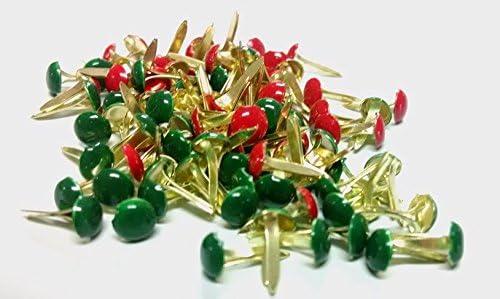100ct Bright Color Mini Round Brads Set