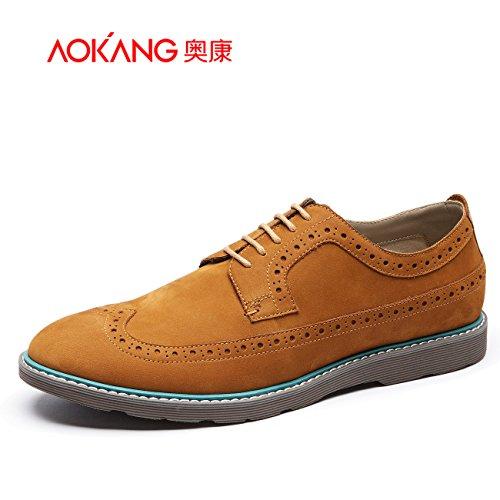 Aemember uno degli uomini scolpiti opaca scarpe Scarpe Uomo Scarpe ,41, marrone chiaro 165011322