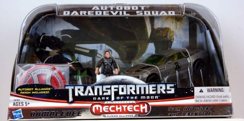 Transformers 3 Dark of The Moon Exclusive Autobot Daredevil Squad Bumblebee, Sam Witwicky Backfire
