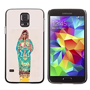 Designer Depo Hard Protection Case for Samsung Galaxy S5 / Colorful Indian Woman Praying