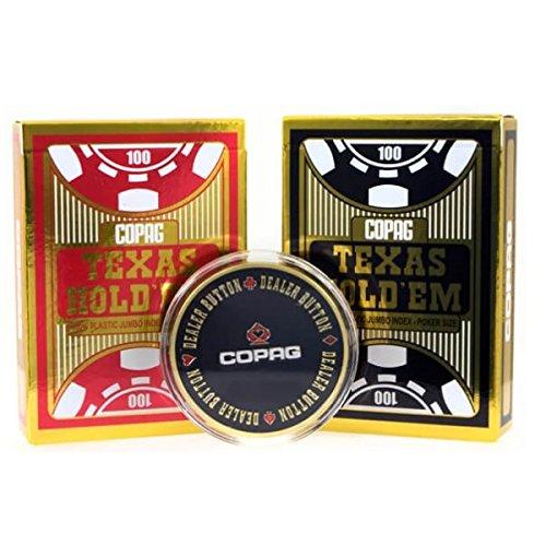 Tavoloverde Cartes à jouer Copag Texas Hold'em double deck with metal dealer