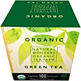 Natural Wonders USDA Organic Green Individualy Wrapped Tea Bags, 100 Count