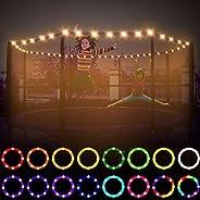 TWORIVER LED Trampoline Lights,Waterproof Remote Control,Trampoline Rim Lights for 6ft 8ft 10ft 12ft Trampolin
