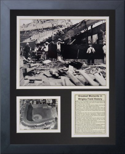 Legends Never Die Wrigley Field Construction Framed Photo Collage, ()