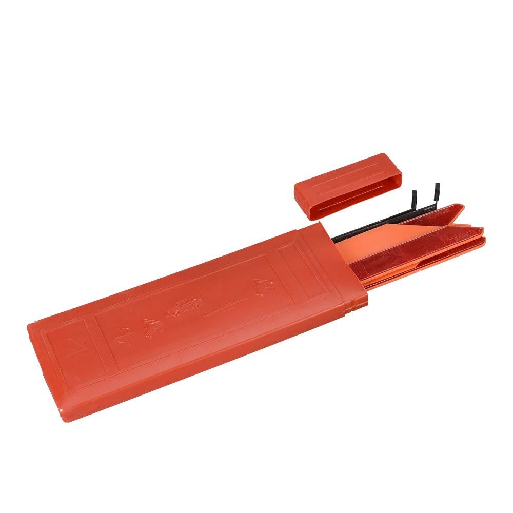 Rouge3, 43 * 43 * 43CM AYKRM Triangle davertissement et Gilet durgence Haute visibilit/é