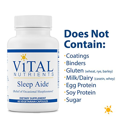 Vital Nutrients - Sleep Aide - Non Habit Forming Relief of Occasional Sleeplessness - 60 Capsules by Vital Nutrients (Image #4)