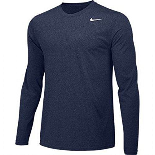 (Nike Boys Legend Long Sleeve Athletic T-Shirt (Navy, Youth)