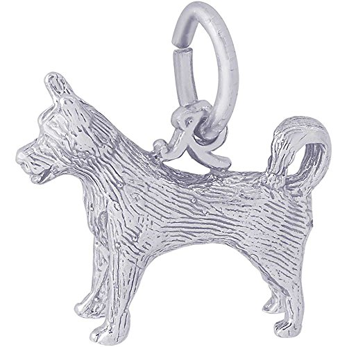 Rembrandt Charms Husky Charm, Sterling Silver